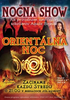 Nočná ohňová show Bojnice - Orientálna noc - Každú stredu