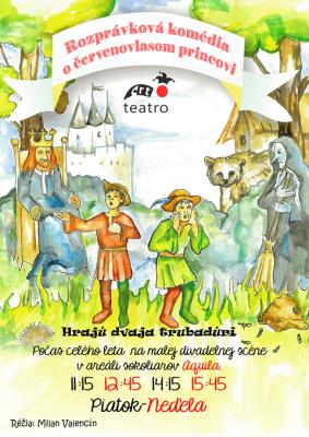 Letná divadelná scéna Bojnice 2020 - Rozprávková Komédia Červenovlasom Princovi