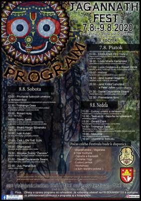 Jagannath FEST 2020 - Outdoorovo duchovný festival pod holým nebom - komletný program