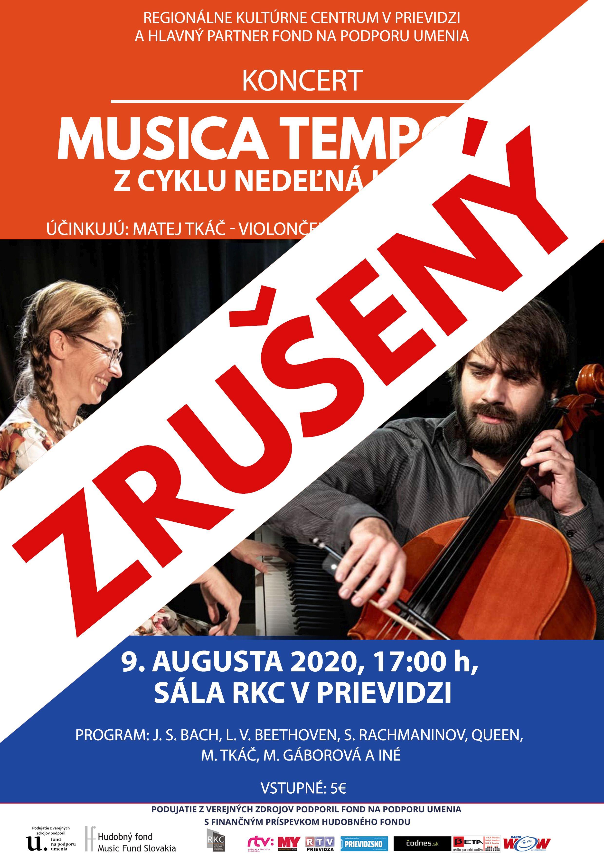 ZRUŠENÉ! Nedeľná klasika: Musica Temporis