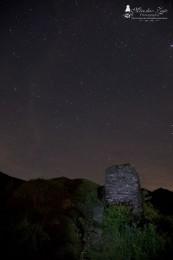Foto: Hrad Sivý kameň Podhradie - západ slnka a nočná obloha 10
