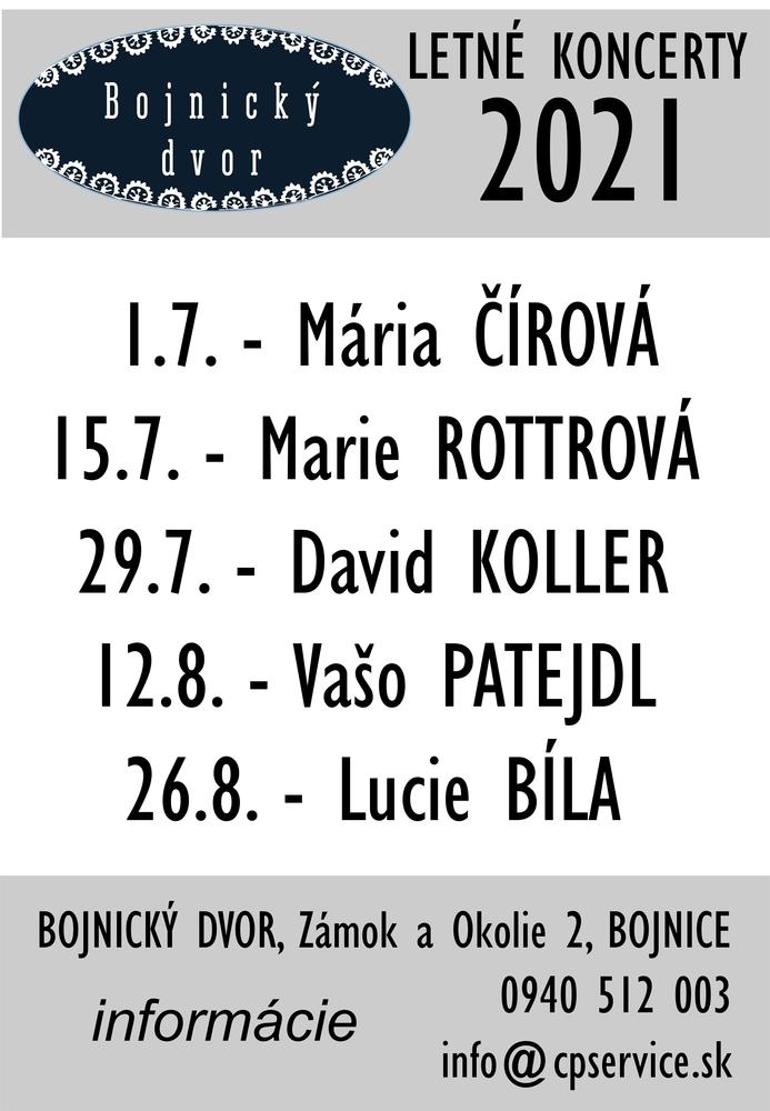 Koncerty - Bojnice - Bojnický dvor - 2021