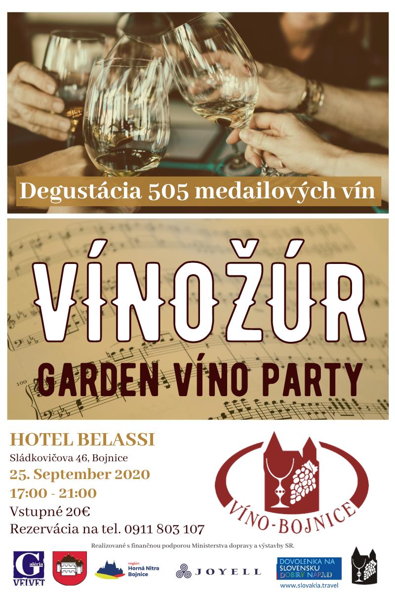 Preložené na neurčito - Vínožúr - garden víno party