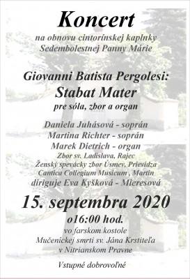 Koncert Giovanni Batista Pergolesi: Stabat Mater