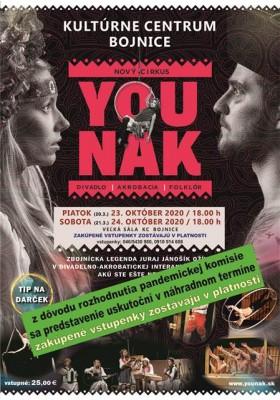 Presunuté na iný termín - YOUNAK - divadlo-akrobacia-folklór