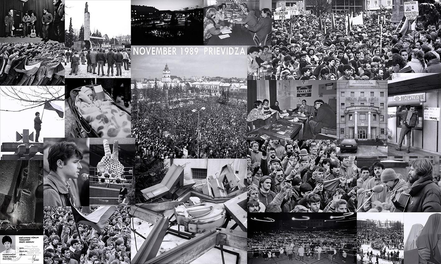 Foto: Ako vyzeral 17. november 1989 v Prievidzi?