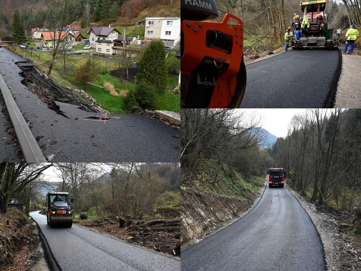 V Čavoji pribudla nová obchádzková trasa. Pomôcť má obyvateľom obce počas rekonštrukcie zosunutého úseku cesty