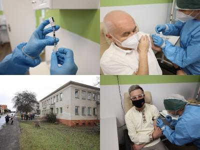 Foto a video: Nemocnica Bojnice spustila očkovanie proti COVID-19 v novom vakcinačnom centre