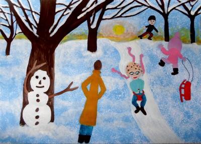 Výtvarná súťaž: 5.ročník Spomienky na Vianoce