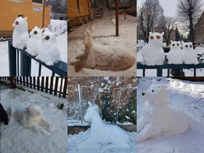 Video: Snehové sochy v záhradách