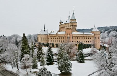 Foto: Bojnický zámok a Bojnice v zime 0