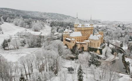 Foto: Bojnický zámok a Bojnice v zime 2