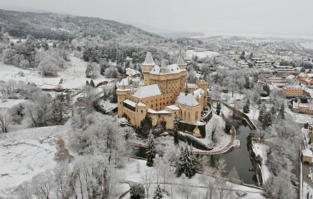 Foto: Bojnický zámok a Bojnice v zime 6
