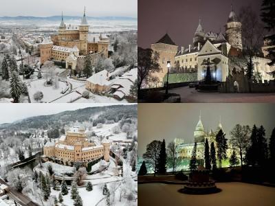 Foto: Bojnický zámok a Bojnice v zime
