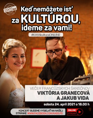 Viktória Granecová a Jakub Vida – Večer francúzskych šansónov (online stream)