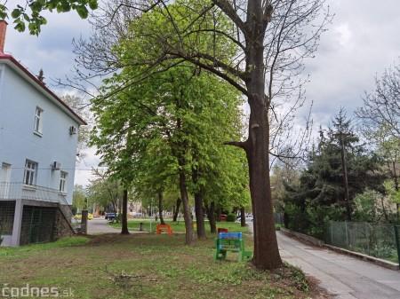Foto: V Prievidzi vznikla nová oddychová zóna s farebnými lavičkami 11