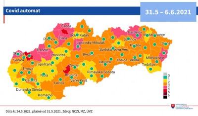 Covid automat: Okres Prievidza bude od 31.5. žltý. Čo to znamená?