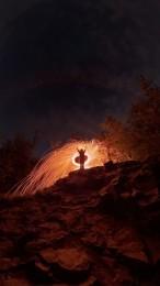 Foto: Nočné maľovanie svetlom na Veľkom Gríči 0