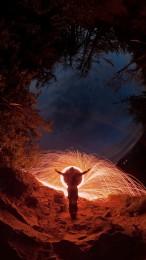 Foto: Nočné maľovanie svetlom na Veľkom Gríči 4