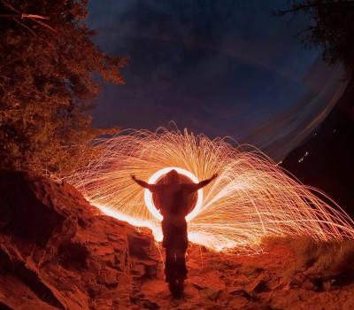 Foto: Nočné maľovanie svetlom na Veľkom Gríči