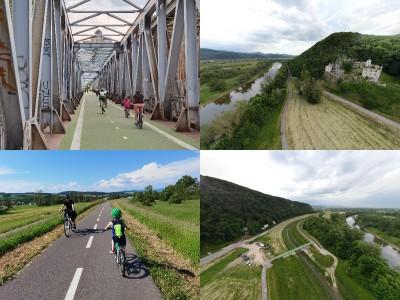 Foto: Cyklotrasa Trenčín - Nemšová. Pekná a ideálna cyklotrasa pre rodiny s deťmi.