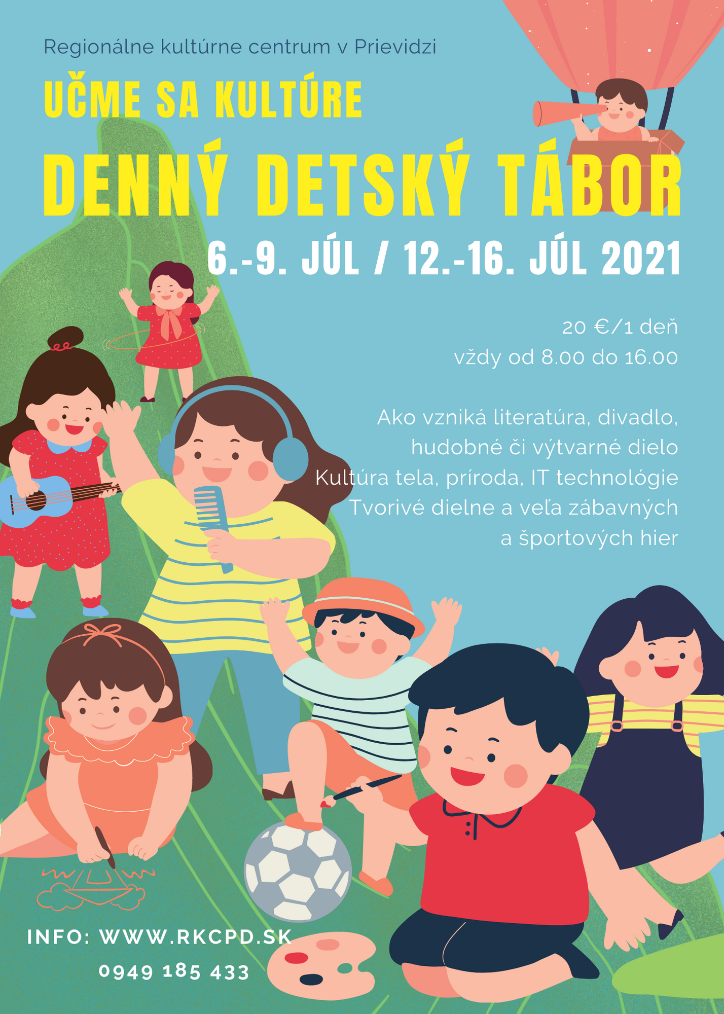 Učme sa kultúre: Denný detský tábor 2021