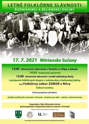 Letné folklórne slávnosti rudnianskej a belianskej doliny 2021