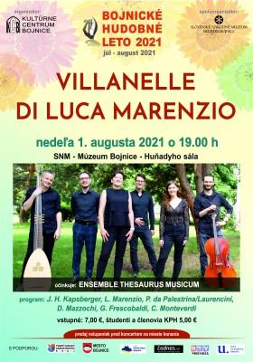 VILLANELLE di LUCA MARENZIO – historická hudba