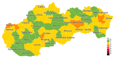 Covid automat: Okres Prievidza je od 28.6. konečne zelený