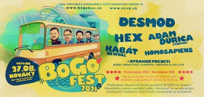 Bogo fest 2021 - HEX, DESMOD, ADAM ĎURICA, HOMOSAPIENS