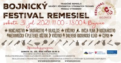Bojnický festival remesiel 2021