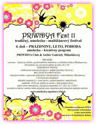 PRIWIDYA Fest 11 - 4. deň tradičného, umelecko - multižánrového festivalu