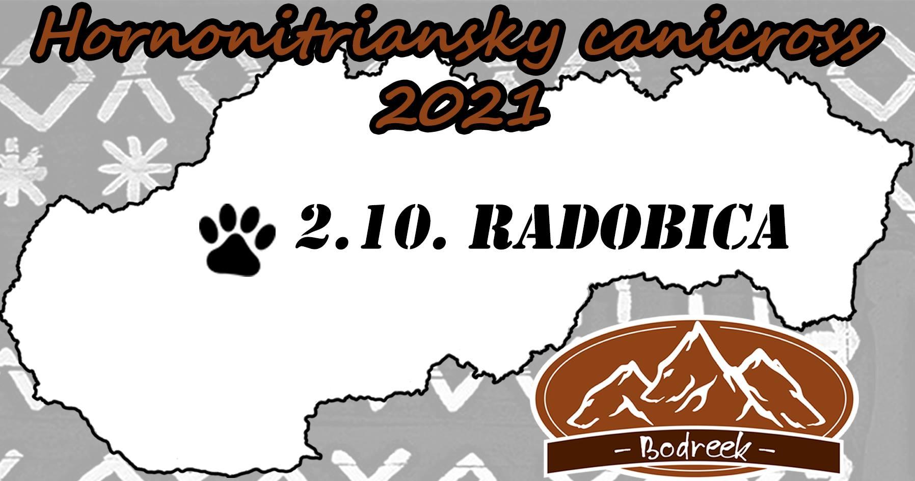 Rozbehaj svojho Bodreeka tour 2021 - 3.kolo Hornonitriansky canicross