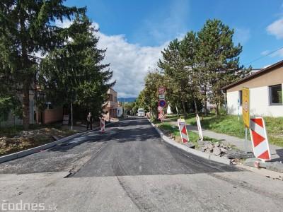 Foto: Obmedzenia na Ul. energetikov na sídlisku Kopanice v Prievidzi z dôvodu rekonštrukcie