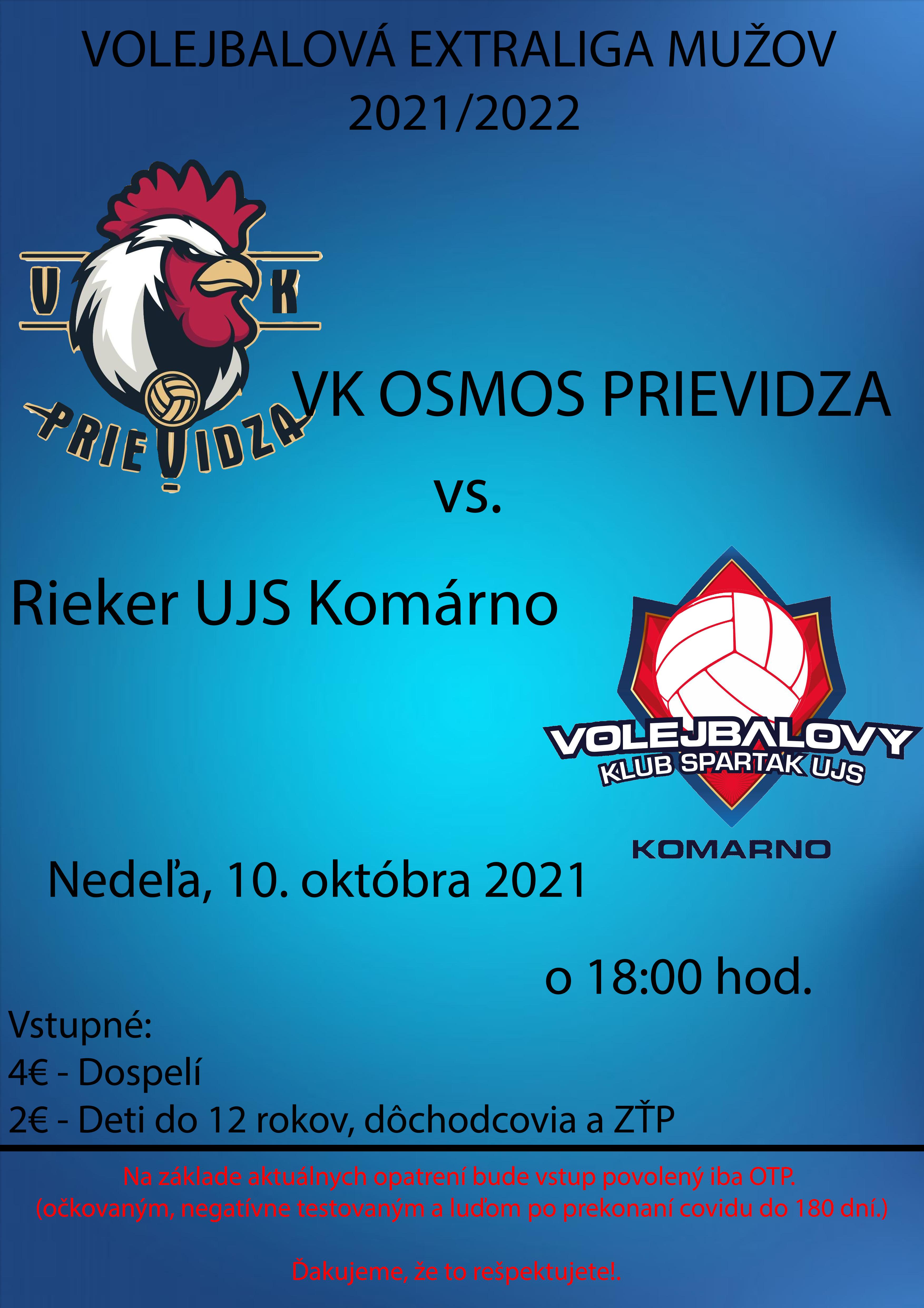 Volejbal: VK Osmos Prievidza - Rieker UJS Komárno
