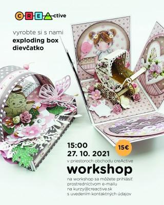 Exploding box v téme dievčatko alebo chlapček - kreatívny workshop creActive
